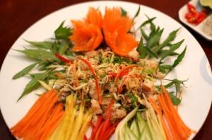 Horseshoe crab salad