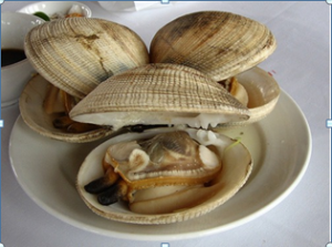 Steamed clam